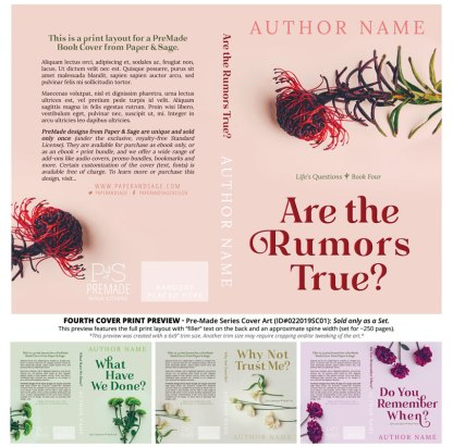 Print layout for PreMade Series Covers ID#022019SC01 (Life's Questions Series, Only Sold as a Set)