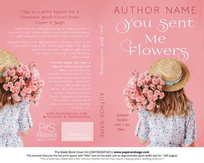 Print layout for Pre-Made Book Cover ID#190204TA01 (You Sent Me Flowers)