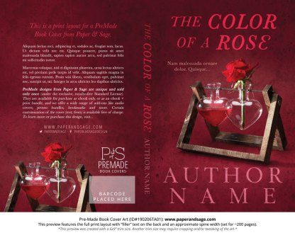 Print layout for Pre-Made Book Cover ID#190206TA01 (The Color of a Rose)