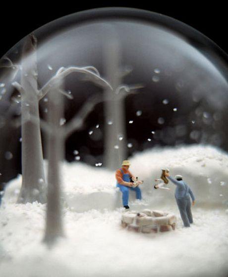 weird snow globes