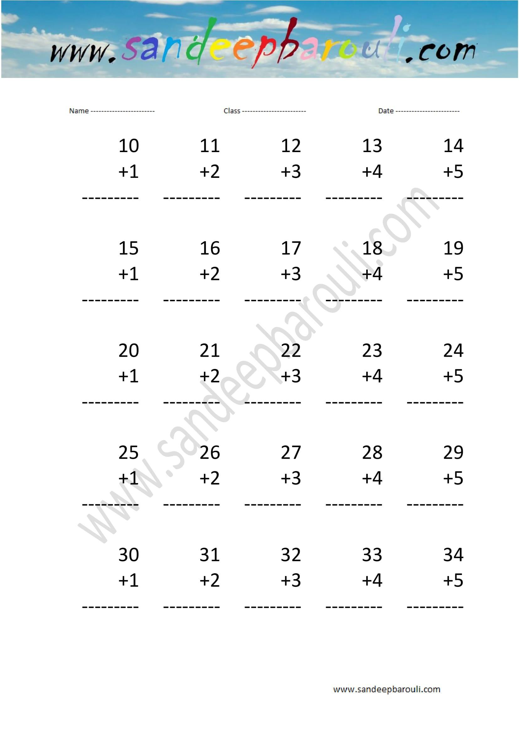 Math Worksheets For Kids 70 Sandeepbarouli