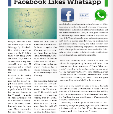 Facebook Likes Whatsapp