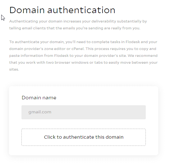 flodesk domain authentication