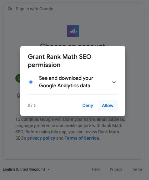 RankMath Google Analytics