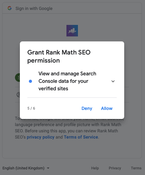 RankMath Google Search Console Integration