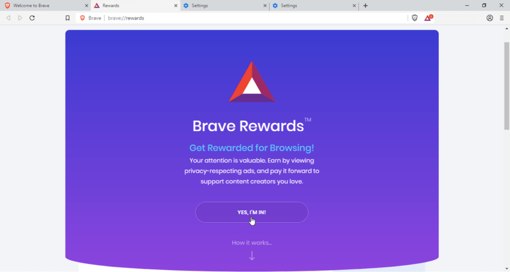 Earn with Brave Browser