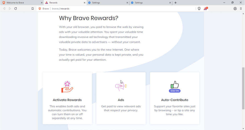 Why Brave Browser Rewards