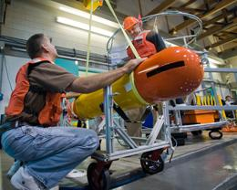 The Tethys underwater robot <i>Todd Walsh/MBARI</i>