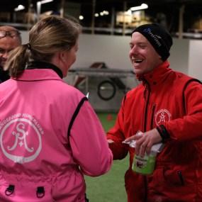 Trude Aas og Hans-Kristian Halmrast - God steming på klubbmesterskap. Foto: Michelle Foldnes