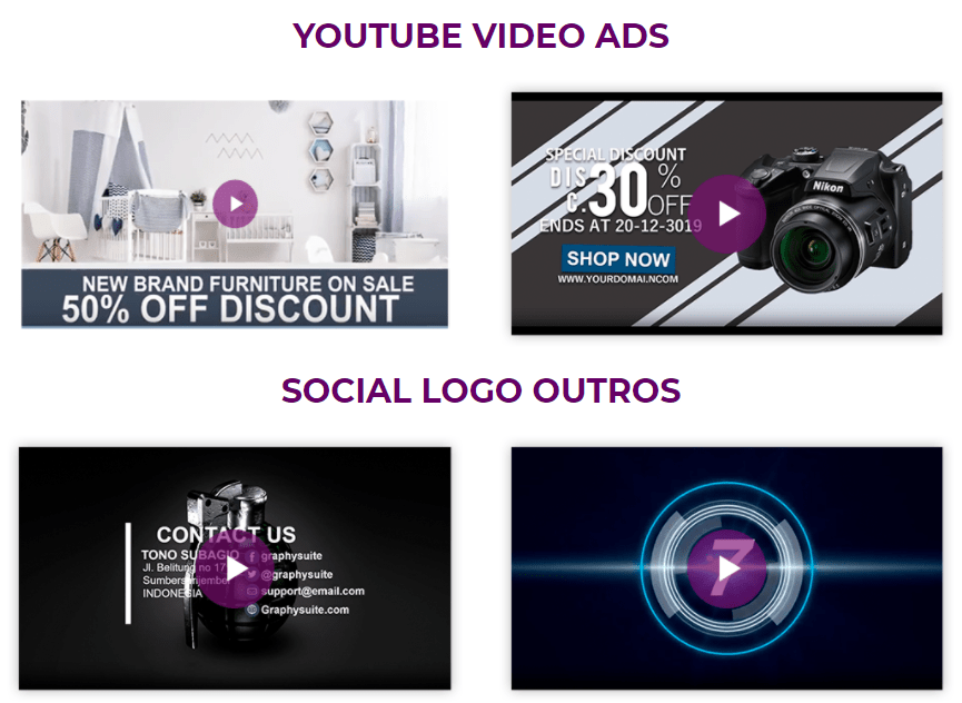 graphysuite video ads template