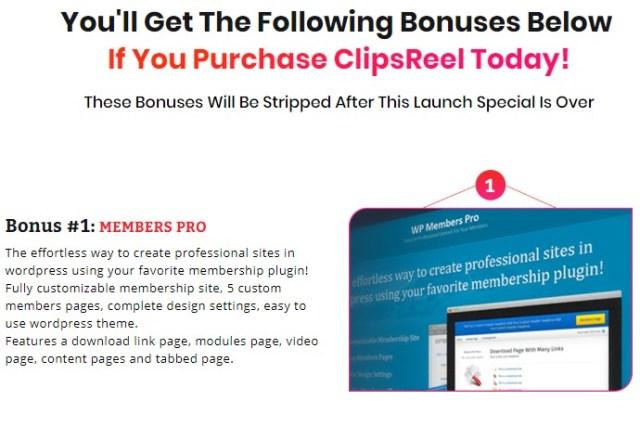 clipsreel bonuses
