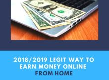 legit way to earn money from home
