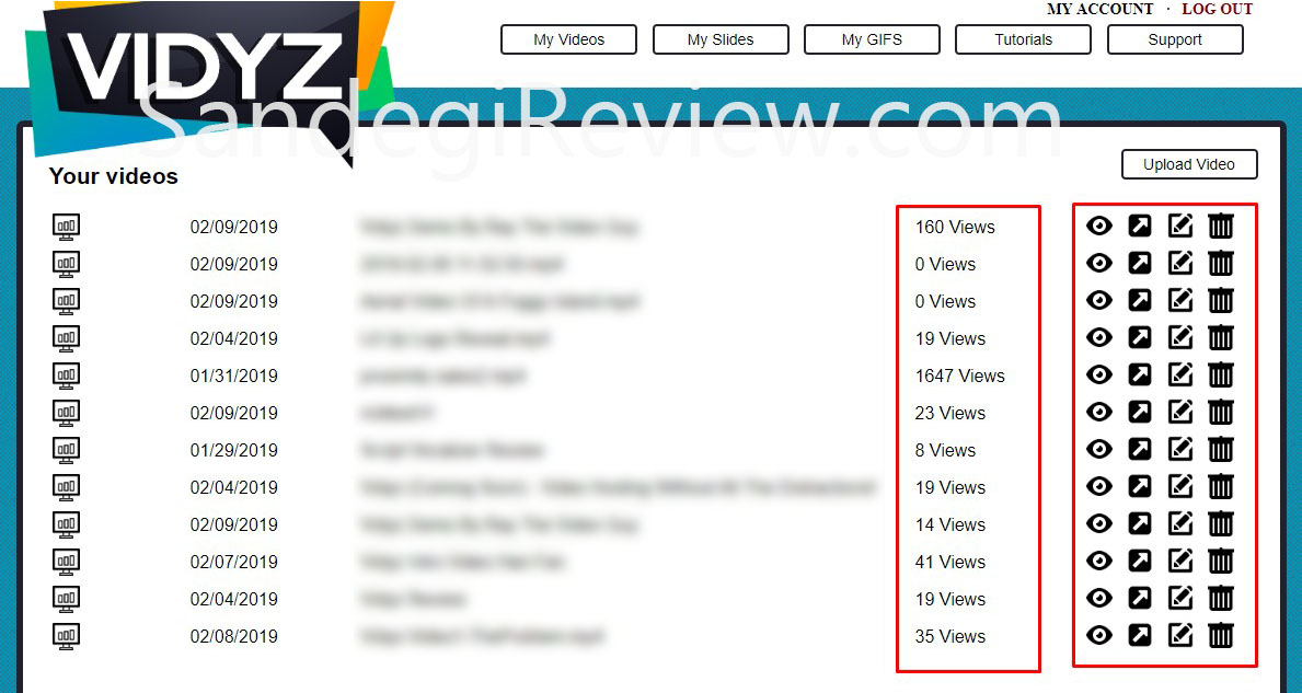 vidyz review my videos menu