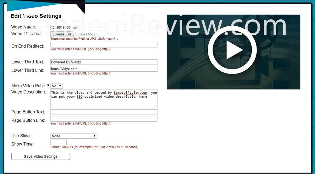 vidyz review video details