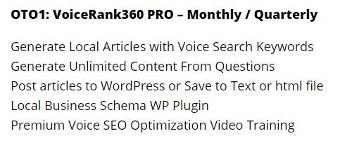 voice rank 360 2.0 oto