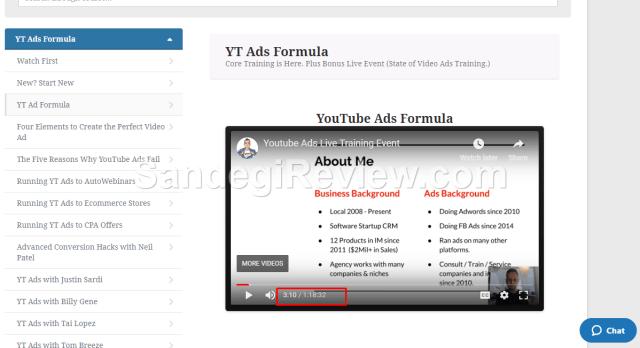 yt ads formula main course