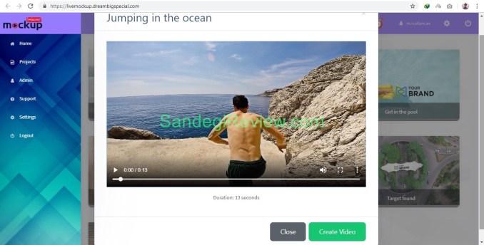 video app suite live mockup