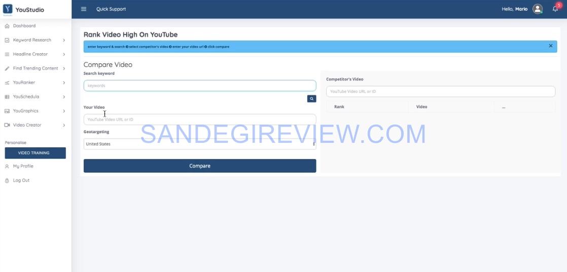 youstudio review youranker feature