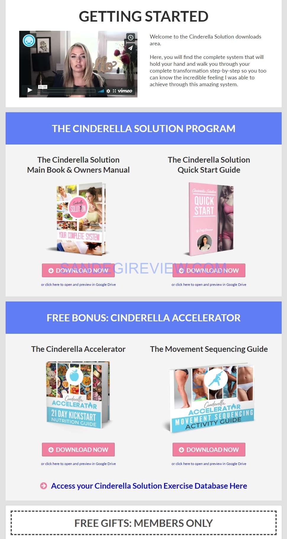 cinderella solution member area