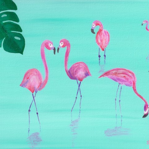 Flamingo Flock