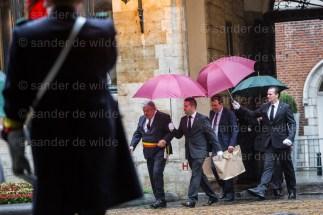 Mayor of Brussels arrives