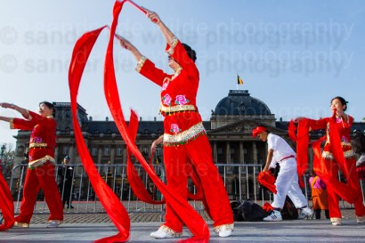 Traditional Chinese dancers at thre royal palace