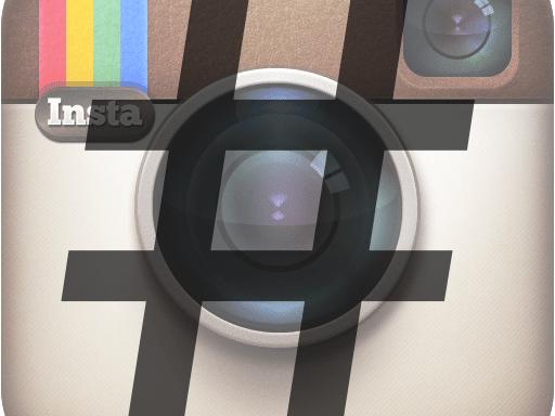 Instagram logo hashtag