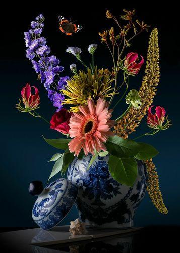 Royal Dutch, bloemsstilleven, bloemen, bloem,