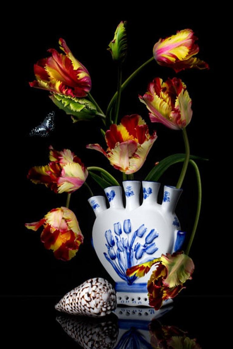 bloemen schilderij van Sander van Laar de digitale bloemist