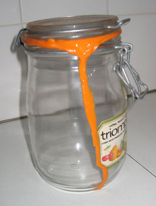 Salvador Dali-esque storage jar