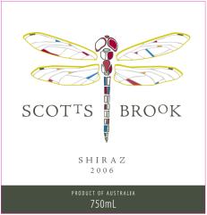 Scotts brook wine label