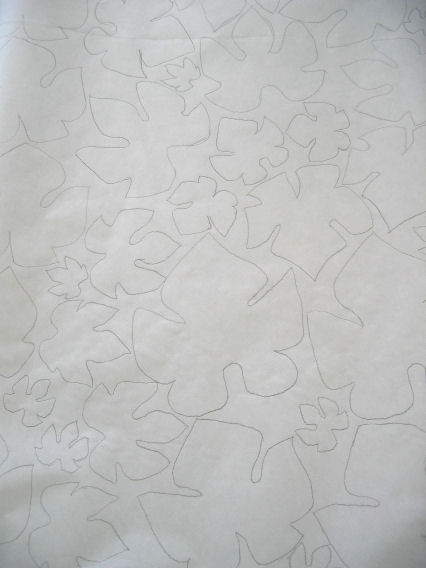 Outlines of grape leaves