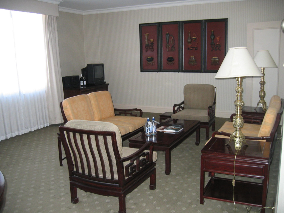 Living area of King Suite - this is what I saw when I turned to the right