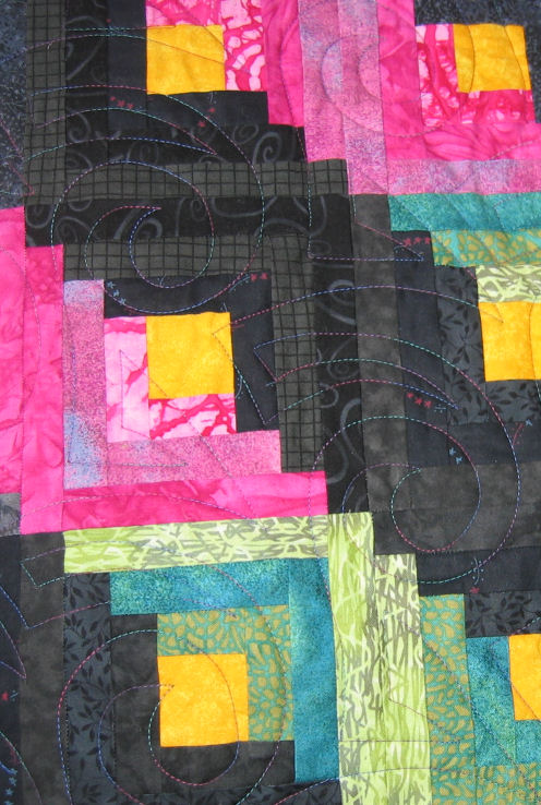 Judy's great quilting (front)