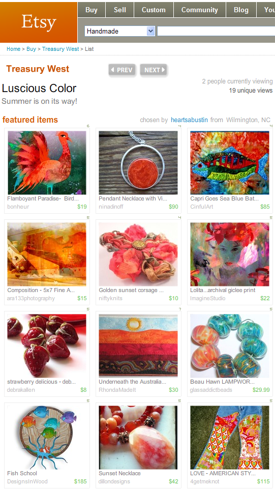 Featured in an Etsy Treasury