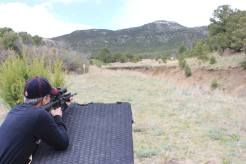 Heidi making 350-yard rifle shots at the 2016 3-Gun University