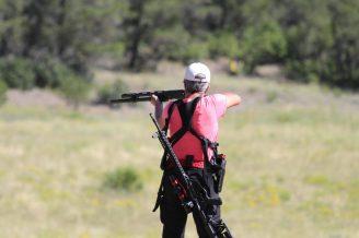 Heidi taking long range shotgun shots at the 2019 He-Man