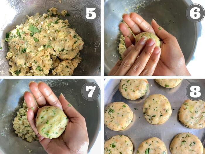 step by step method for aloo tikki recipe