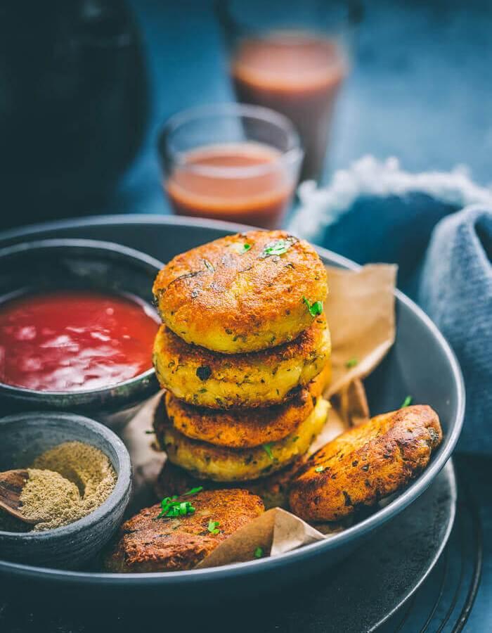 Indian street food Aloo Tikki Recipe Image