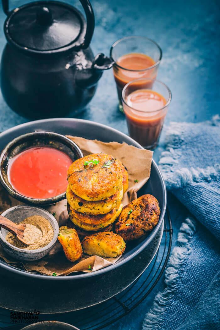 Stack of Aloo Tikki - Indian Street Food