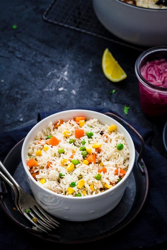 Vegetable Pilau rice recipe image