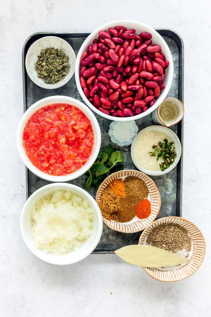 Ingredients for Rajma masala