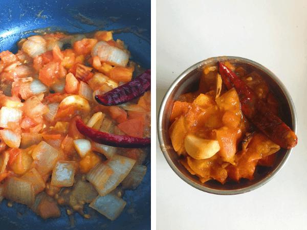 Onion Tomato Chutney Step by Step