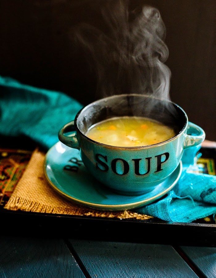 vegetable clear soup recipe image