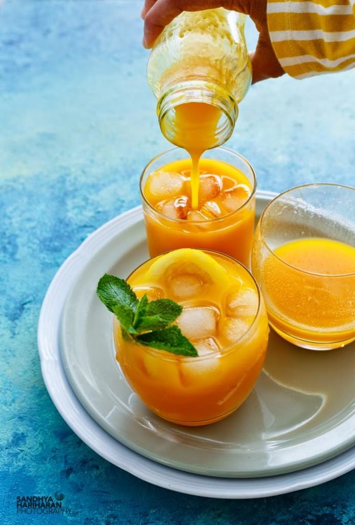 Three cups of Mango Limeade