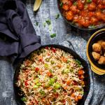 15 minutes Easy Vegetable Fried Rice