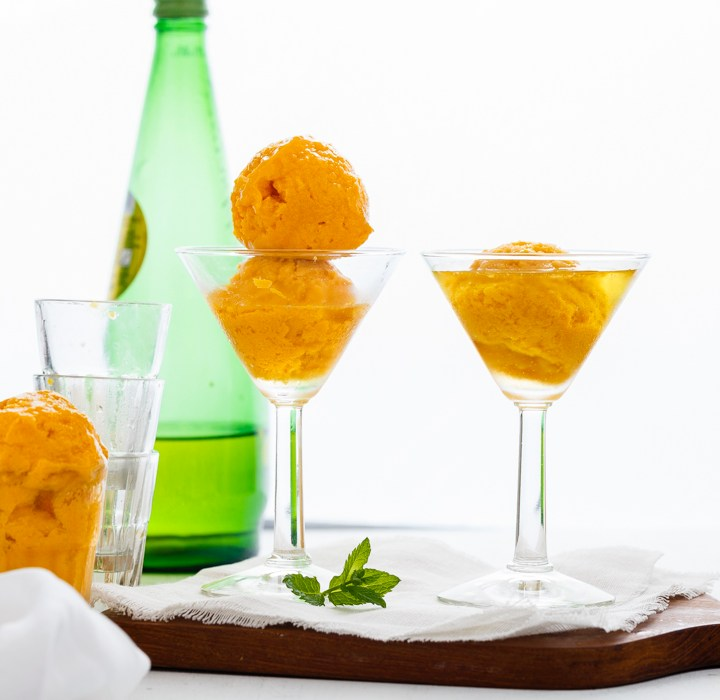 Mango Sorbet Float