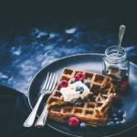 Classic Waffles with Salted Caramel cream