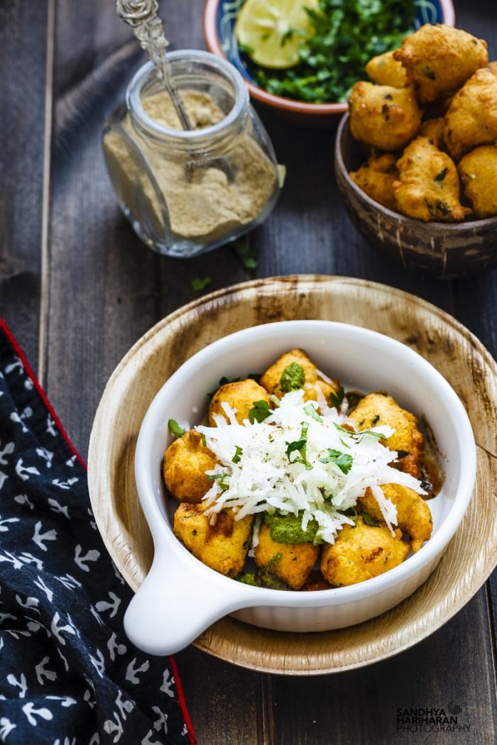 Ram Ladoo served in a bowl - Street food from Delhi
