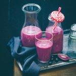 blueberry mango oatmeal smoothie recipe image